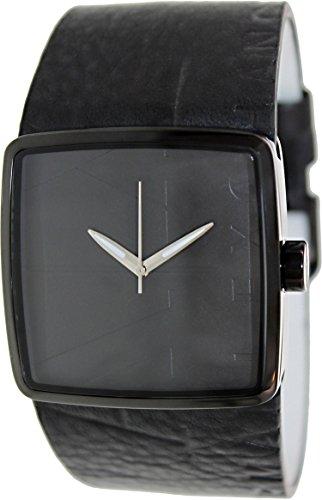 Armani Exchange Leather Strap Black Dial Men's watch #AX6002