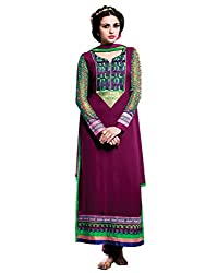 Varanga Exclusive Suits Pure Georgette Straight Fit semi stitched salwar suits KFSIM209