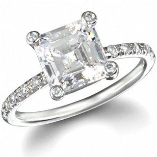 Annabeth's Asscher Cut Promise Ring - 8