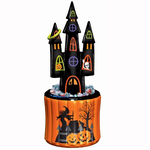 Amscan - Halloween Haunted House Inflatable Cooler and Ring Toss Game