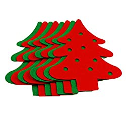 Christmas Decorative Hangings Christmas Trees, Red&Green(15*20.5cm)