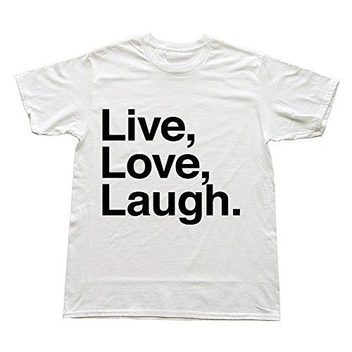 Hoxsin White Men'S Live Love Swag 100% Cotton Tshirt Us Size M