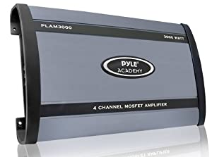Pyle PLAM3000 3000 Watts 4 Channel Bridgeable Amplifier by Pyle