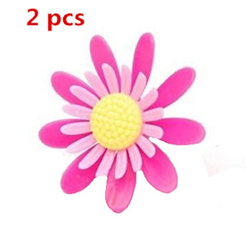 BFY 2 Pcs Flower Shaped Car Air Fresheners Air Purifier Perfume for Cars (Peach Flavor) (Flower Shaped Air Freshener compare prices)