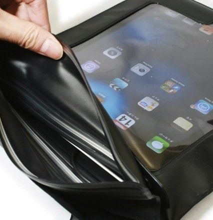 Axstyle 高品質 水深10M スタイリッシュ 防水ケース Waterproof case for iPad4/iPad3/iPad2 イヤフォンジャック付 ストラップ付属 オリジナルモデル