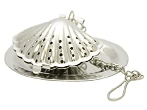 Sea Shell Stainless Steel Tea Infuser with Drip Tray by SCI Scandicrafts