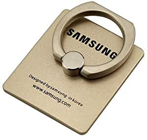 Mobile stand Ring Holder/Mobile stand Ring/Mobile Holder/360 Rotating Metal Ring Holder Mobile Phone Stand For Any samsung Model-Gold