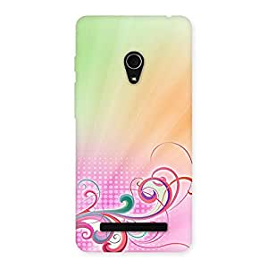 Ajay Enterprises Orang Green Color line Back Case Cover for Zenfone 5