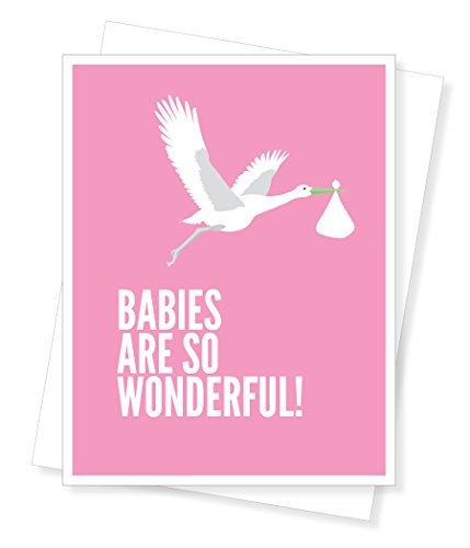 Apartment 2 Cards D194 Girl Stork New Baby Greeting Card front-82820