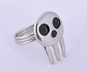 Soul Eater Death Shinigami Skull Ring Alloy cosplay hot sell sliver colour