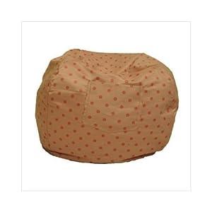 Fun Furnishings Small Polka Dot Bean Bag Chair Color: Pink