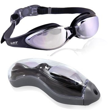U-FIT Best Rated Performance Swim Goggles - Clip Strap Technology - Included: Complimentary Protection Case! - For Men and Women - Ultra Comfort - Anti Fog!