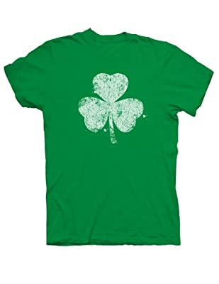 Distressed Shamrock Irish T-shirt