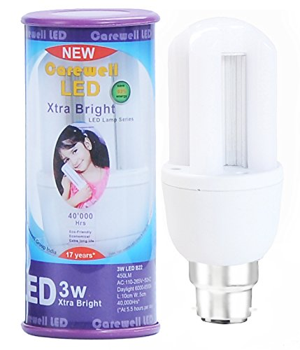Carewell 3W LED Bulb (Cool Day Light)
