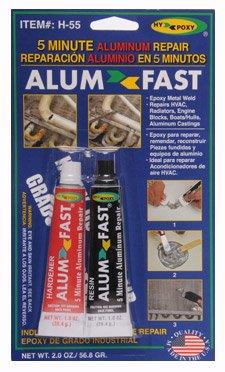 ALUMFAST H-55 5-Minute Aluminum Epoxy Repair Kit - 2oz