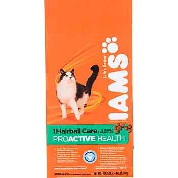 See Iams Proactive Health Adult Hairball Care, 6.8-Pound Bags