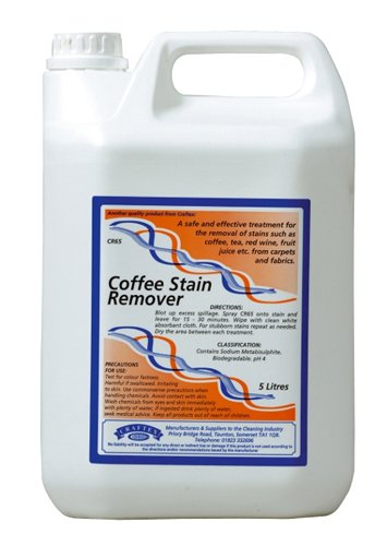 Coffee and Red Wine Stain Remover - Removes Coffee, Tea, Red Wine and Fruit Juice Stains from Carpets and Fabrics. 5 Litres - Comes With TCH Anti-Bacterial Pen!