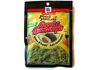 McCormick Produce Partners Great Guacamole Seasoning Mix 1 Oz Packet MILD (Pack of 3)