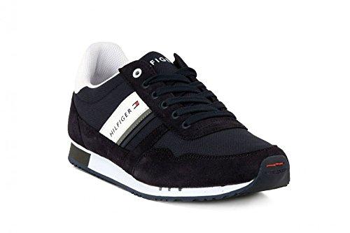 Tommy Hilfiger Uomo SM-M2285AXWELL 3D, Twilight (260), Tessuto e Pelle scamosciata, Sneaker stringata, EU 43