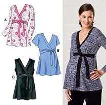 Kwik Sew Mock-Wrap Maternity Tops Pattern By The Each