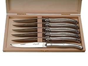 Laguiole Jean Dubost 98/13650 Coffret 6 Couteaux Table Tout Inox