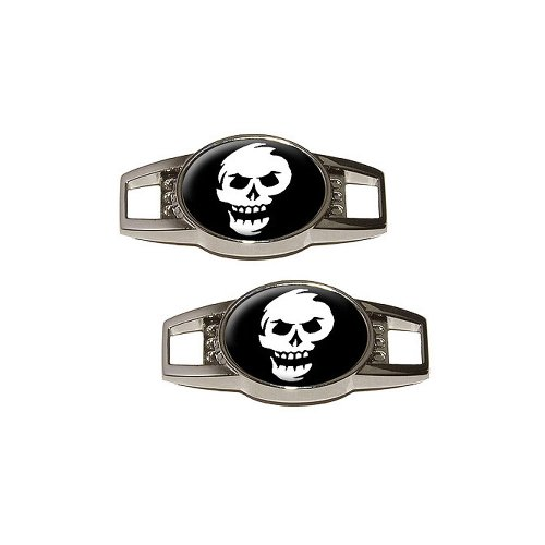 Abstract Skull - Shoe Sneaker Shoelace Charm Decoration - Set Of 2