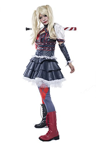 Harley Costume Quinn Arkham City Cosplay Outfit Custom Made