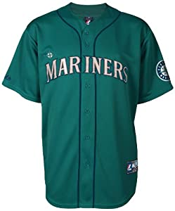 Buy MLB Mens Seattle Mariners Felix Hernandez Green Baseball Jersey By Majestic by Majestic