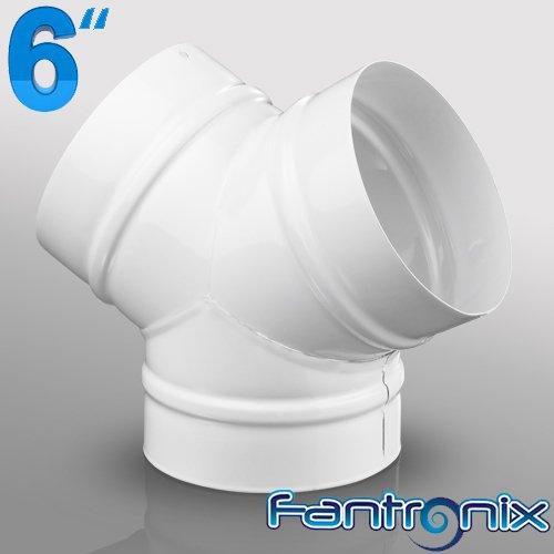 Raccordo a Y, 150 mm, in plastica, sezione tonda, per sistemi di ventilazione domestici