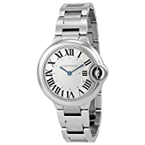 Cartier Ballon Bleu Silver Dial Stainless Steel Ladies Watch W6920084