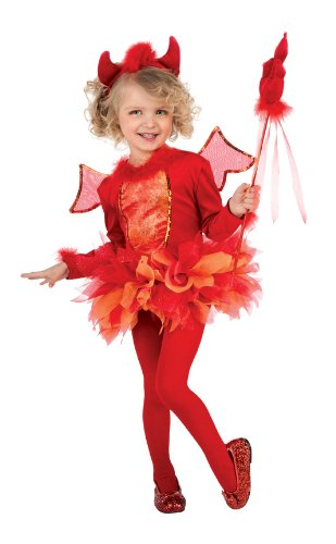 Rubie's Costume Deluxe Deviled Cutie Costume, Red, Toddler