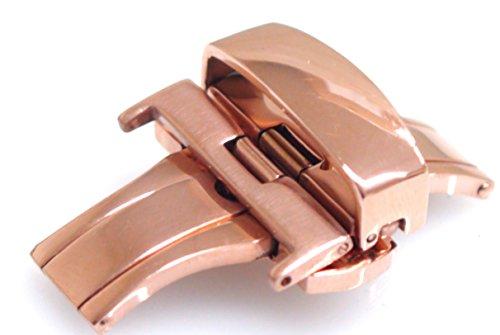 D 扣 (双 / 折叠插页仪式) 22 毫米 (粉红色) 春贴出和春天酒吧 22 毫米 1 / 带有蝴蝶扣 D 扣皮革手表皮带更换弹簧杆弹簧伸出和