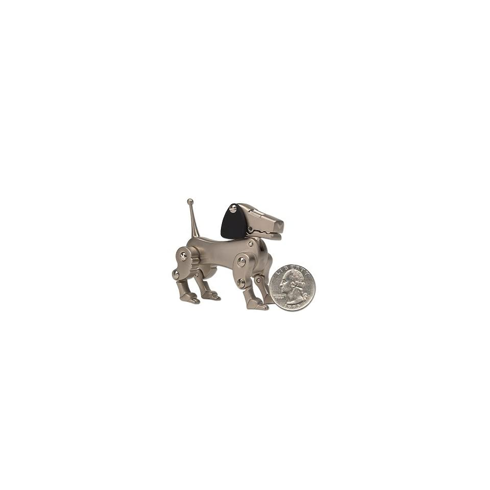 Collectible Brushed Nickel Dog Memo Holder