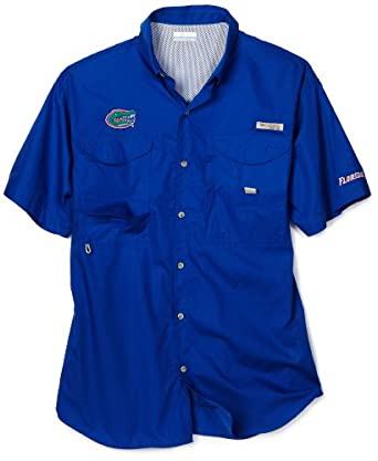 Buy Columbia NCAA Mens Florida Gators Collegiate Bonehead Short Sleeve Shirt (Azul, Large) by Columbia