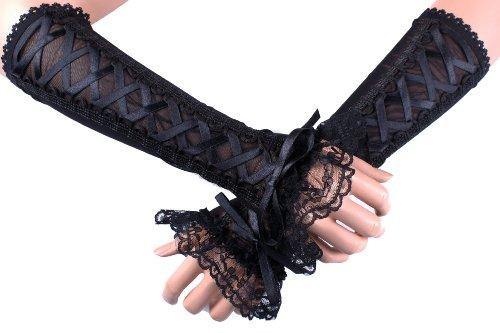 Abendmode-Gothic-Victorian-rmel-28-cm-Lange