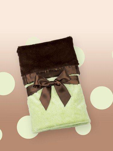 Bearington Baby Silky Soft Security Blanket (Kiwi)