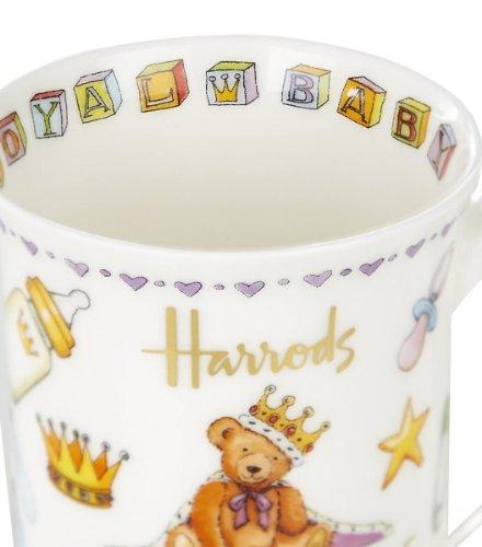 英国Harrods(ハロッズ) ウィリアム王子&キャサリン妃 ロイヤルベビー記念マグカップ 数量限定 英国製陶磁器【並行輸入品】