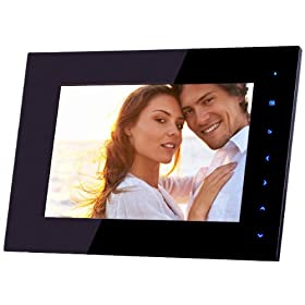 NIX TS07E - Designer Series Cordless 7 inch Digital Picture Frame, Internal Rechargeable Battery, 'Blue Lite' Touch Sensitive Controls: Camera & Photo