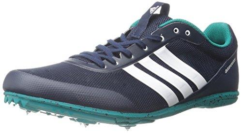 Adidas Distancestar W scarpe da corsa con Picchi, collegiale Navy / bianco / verde, 10.5 M Us