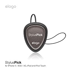 elago Stylus Multi-use Guitar Pick with micro-fiber pad for iPhone4 / 3GS / 3G, iPad and iPod Touch,Galaxy Tab
