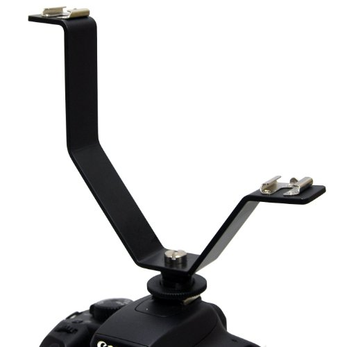 Opteka Vlb-3 Flash/Video Light/Microphone Sound Dual Cold Shoe Y-Shaped Splitter Holder Mount Bracket For Canon, Nikon, Kodak, Casio, Fujifilm, Leica, Olympus, Panasonic, Pentax, Ricoh, Samsung, Sigma & Sony