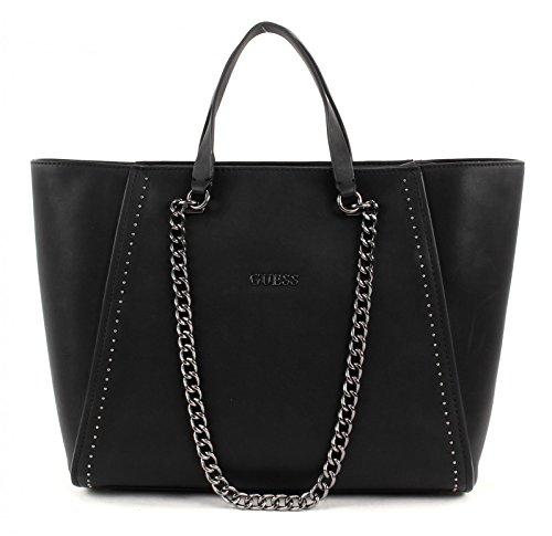 GUESS, Damen Handtaschen, Henkeltaschen, Tote Bags, Schwarz, 44 x 29,5 x 10,5 cm (B x H x T) thumbnail