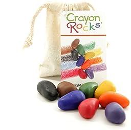 Crayon Rocks: Soy Wax Crayons 8 Primary Colors - Cotton Muslin Bag