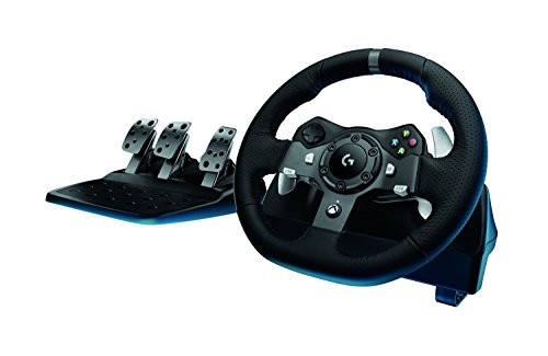 Logitech Driving Force G920 Racing Wheel, Force Feedback Steering Wheel (Steering Wheel Controller For Pc compare prices)
