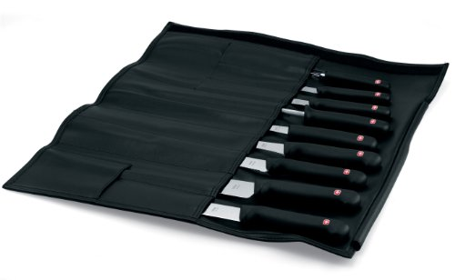 Wenger Grand Maitre 9-Piece Chef's Knife Set with leather roll