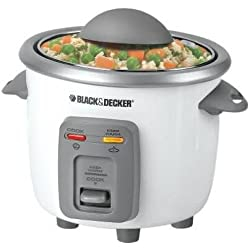 Black and Decker Black & Decker RC3303 3c Rice Cooker, White