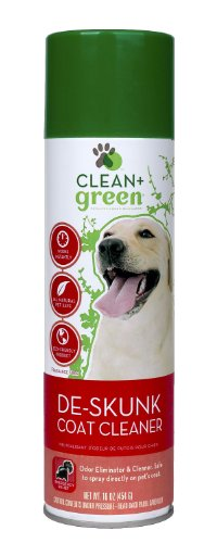 Clean + Green DeSkunk Coat Relief and Odor Remover for Dogs, 16-Ounce