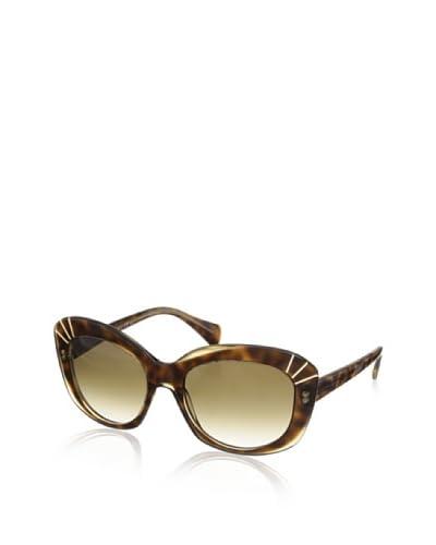 Alexander McQueen Women's Sunglasses, Champagne Havana