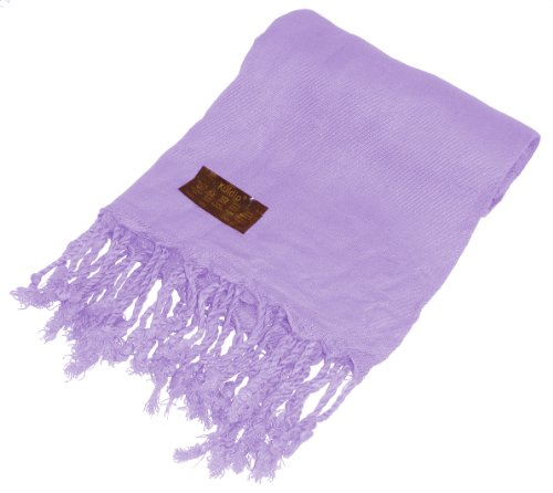 Kuldip Unisex Pashmina Scarf Shawl Wrap Throw Lilac