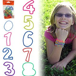 Groooovy Bandzzzz Shaped Rubber Bands - Numbers - 24. Product Category: Toys & Games > Toys